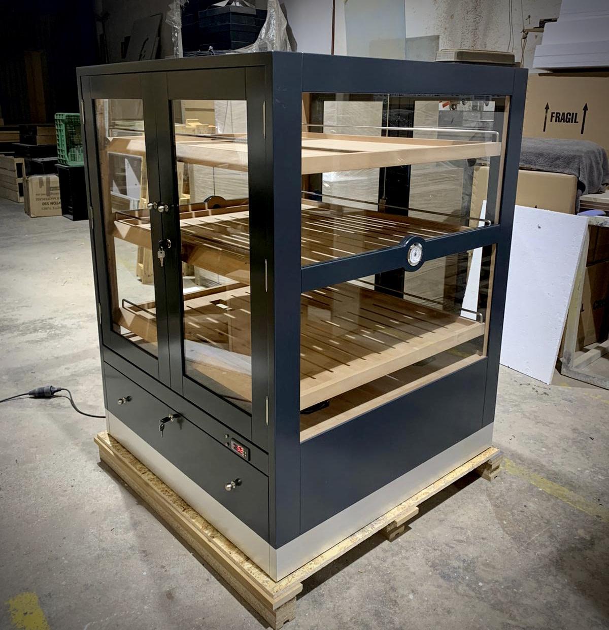 Proceso de fabricación del humidor modelo Baviera