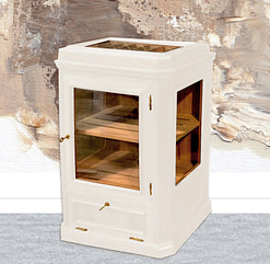 Humidor modelo Atenas lacado blanco