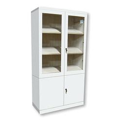 Modular lacado blanco con puertas inferiores