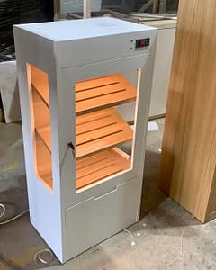 Humidor with led light and electronic humidity system