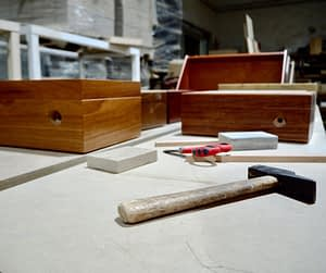Working in themanufacture of humidors