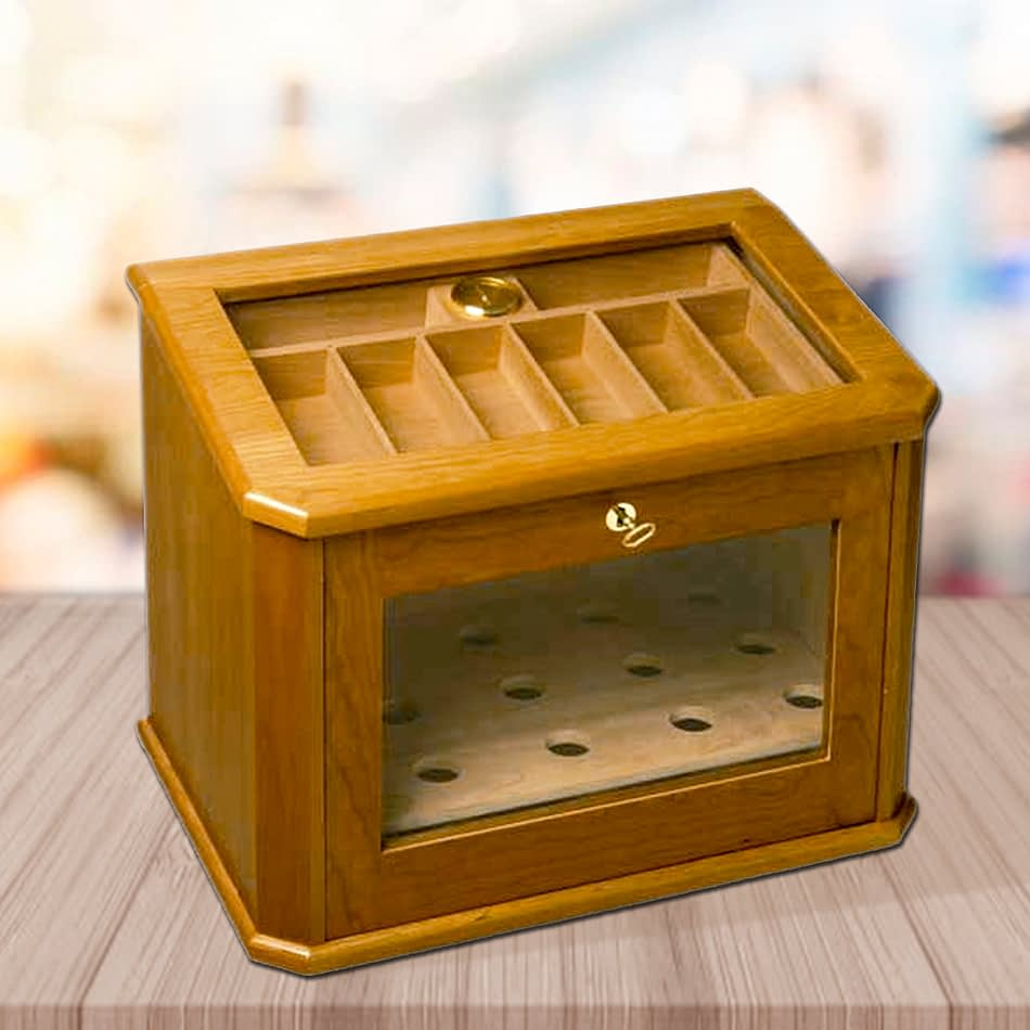 Chile humidor cherry finished