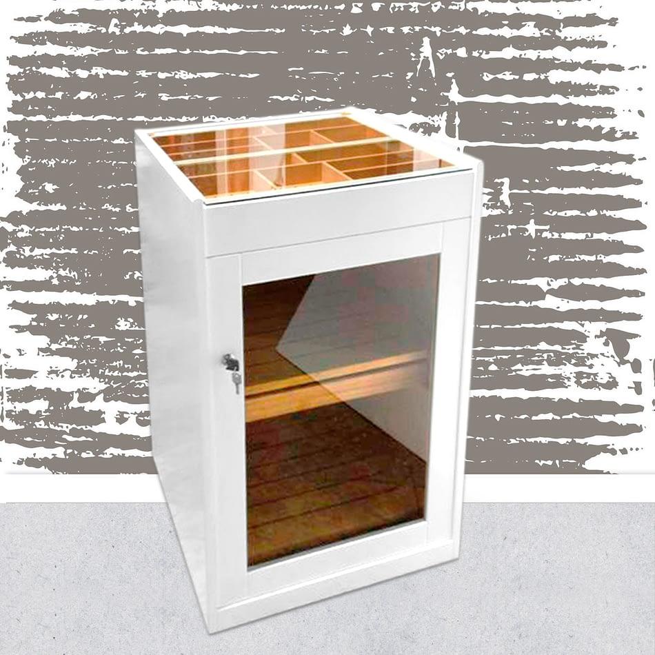 Estoril white lacquered humidor